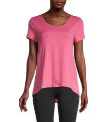 nanette lepore women's pleated short-sleeve top - neon raspberry - size s