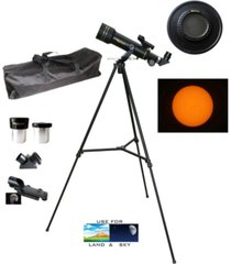 galileo 360mm x 60mm day and night telescope kit with backpack and solar filter cap