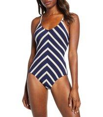 women's robin piccone abi one-piece swimsuit, size 14 - blue