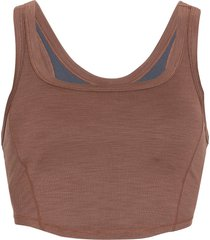 prana women's becksa bralette - flannel heather - large cotton shirt