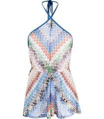 missoni mare fine-knit playsuit - blue