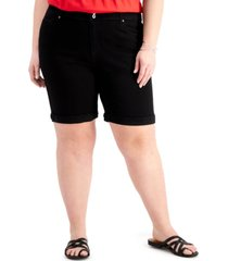 style & co plus size bermuda shorts, created for macy's