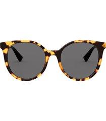valentino valentino va4069 yellow havana sunglasses