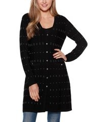 belldini black label long sleeve button up duster cardigan