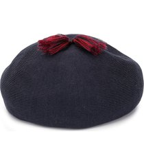 familiar tassel detail hat - blue