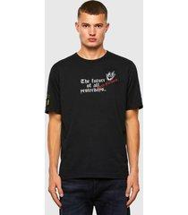 polera t just slits n60 t shirt 9xx negro diesel