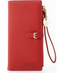 billetera mujer larga sobre 2141 rojo
