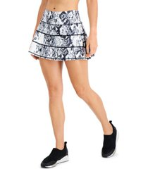 ideology snake-print tiered skort, created for macy's