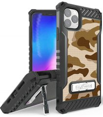 estuche protector tri shield iphone 11 pro max 6.5 - camuflado cafe