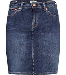 classic denim skirt kdbst kort kjol blå tommy jeans