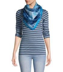 lace print silk scarf