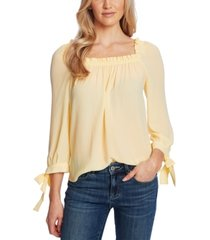cece tie-sleeve square-neck top