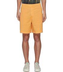 garment dyed elasticated drawcord waist shorts