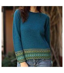 100% alpaca sweater, 'inca muse' (peru)