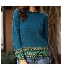 100% alpaca sweater, 'inca muse' (peru)