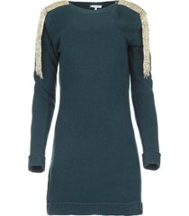 trui jurk met franjes micky  blauw