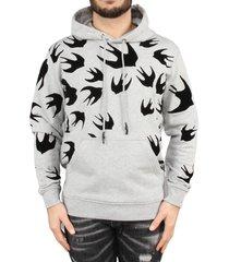 alexander mcqueen pullover hoodie grijs