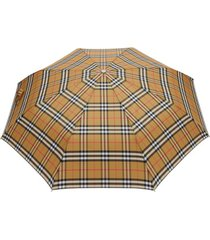 burberry guarda-chuva vintage check - marrom