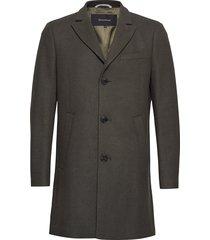 malto classic wool wollen jas lange jas groen matinique