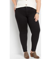 maurices plus size womens denimflex™ black color jegging