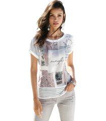 shirt amy vermont ecru::roze::zwart