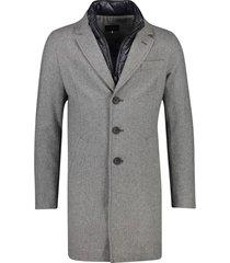 portofino jas lang grijs uitneembare kraag