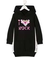 monnalisa pink panther hooded dress - black