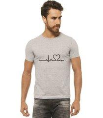 camiseta joss - heart beat - masculina