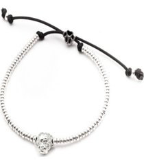 maltese head bracelet in sterling silver