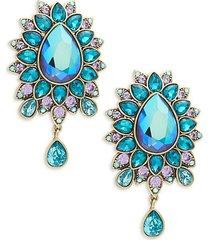 fancy pear drop earrings