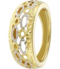 anello in oro 18 kt bicolore per donna