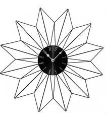 zegar ścienny metalowy słońce 50 cm