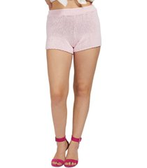 guess cotton sweater shorts