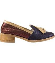 zapato con flecos azul san basilio