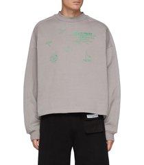 floral logo print crewneck sweatshirt