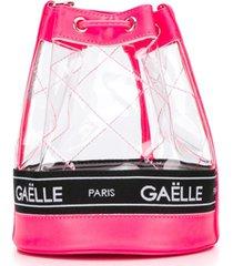 gaelle paris kids bolsa bucket de pvc - rosa