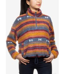 hippie rose juniors' printed sherpa sweatshirt