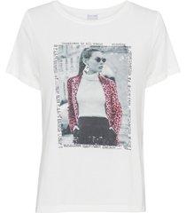 maglia stampata con applicazione (bianco) - bodyflirt