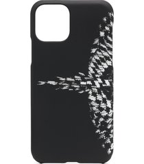 marcelo burlon county of milan cross wings iphone 11 pro case - black