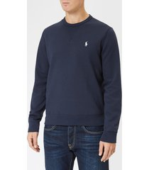 polo ralph lauren men's double knit sweatshirt - aviator navy - xxl