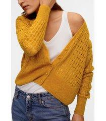 mango openwork knit cardigan