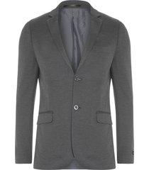 blazer masculino malha - cinza