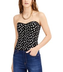 bar iii printed tube top sweater, created for macy's