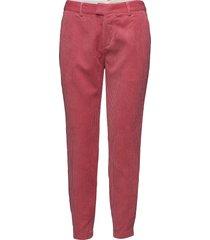 evalynn pantalon met rechte pijpen rood custommade