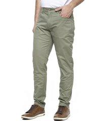 pantalón 5 bolsillos verde kostumo