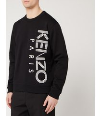 kenzo men's vertical logo sport sweatshirt - black - xxl
