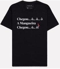 camiseta estampada chegou mangueira reserva - masculino