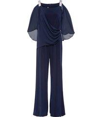 tuta elegante con volant (blu) - bodyflirt boutique