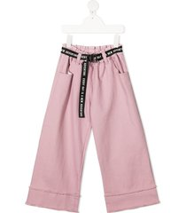 andorine belted wide-leg trousers - pink