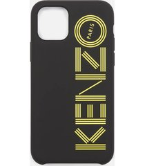 kenzo men's logo iphone 11 case - black/yellow